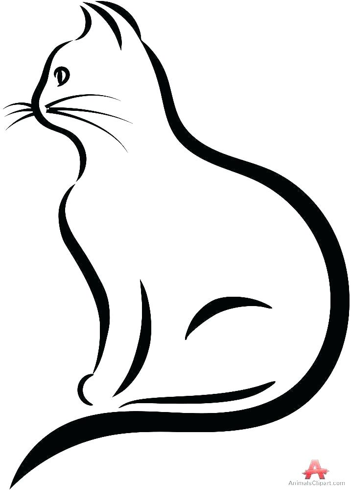 Simple Cat Drawing For Kids | Free download on ClipArtMag