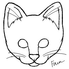 Simple Cat Face Drawing
