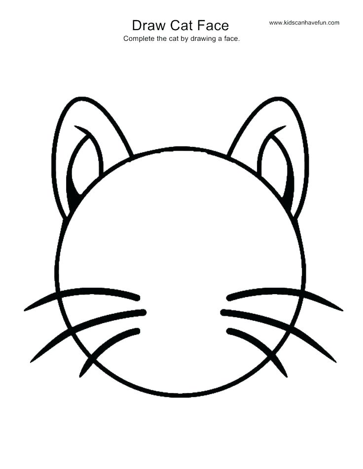 736x952 Easy To Draw Cat Face Cartoon Cat Face Drawing Detail
