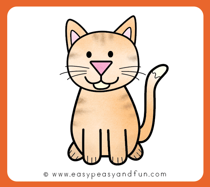 704x627 Huge Collection Of 'cat Simple Drawing' Download More Than