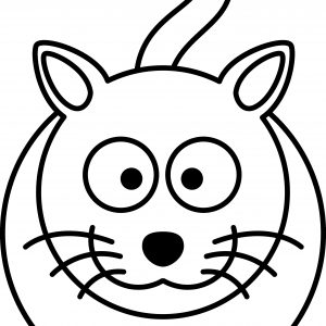 300x300 Simple Cat Drawing Best Cat Face Drawing Save Simple Cat Face