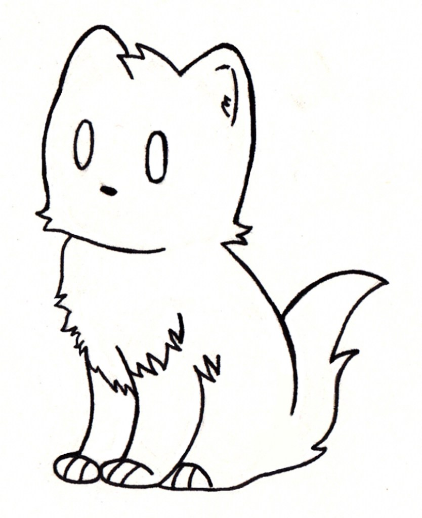 834x1024 Simple Cat Drawings Face Drawing How To Draw A Manga Cute