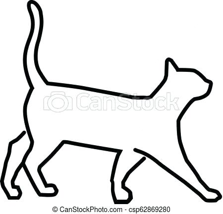 450x432 Outline Of A Cat