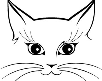 340x270 Collection Of 'kitty Face Drawing' Download More Than Images