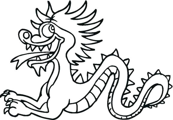 578x402 simple chinese dragon dragon simple chinese dragon outline