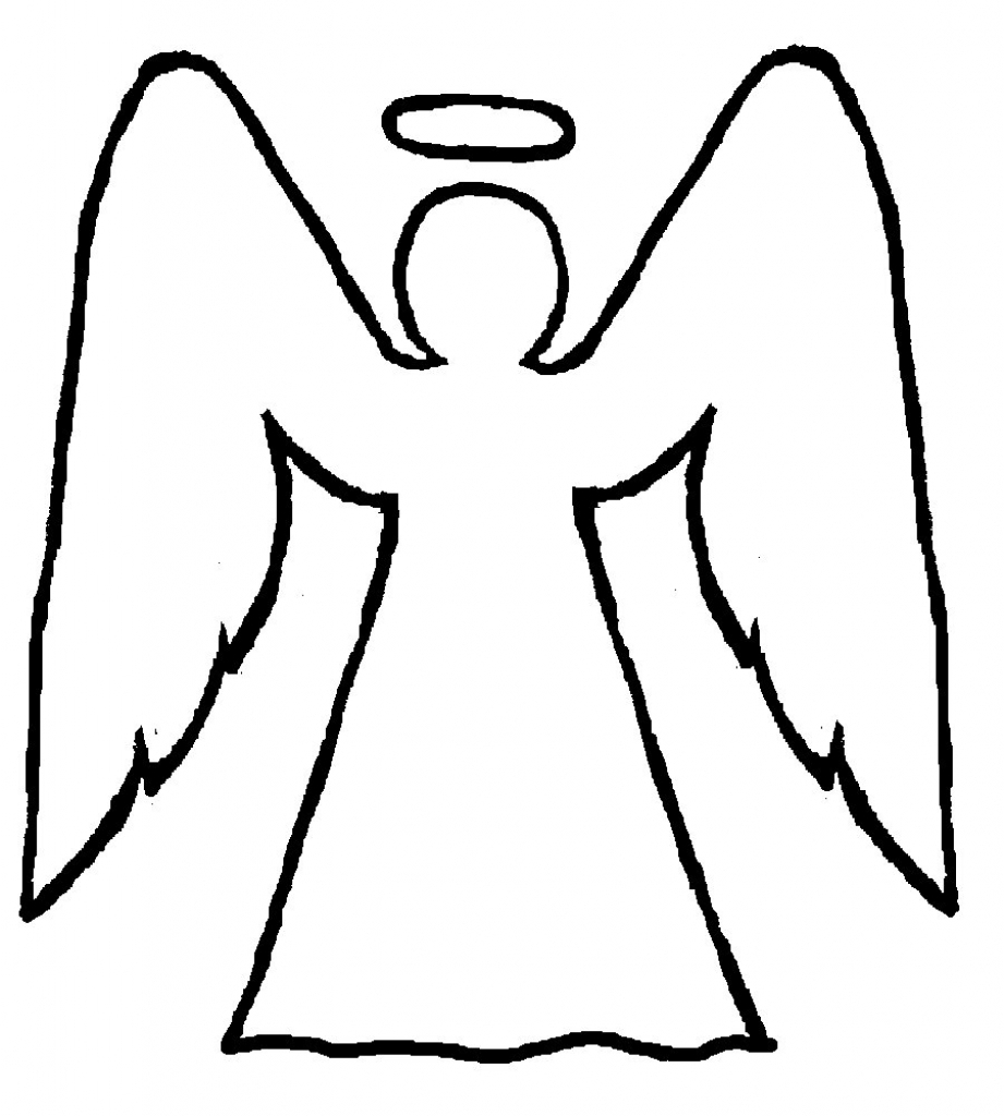 921x1024 Angel Drawing Easy For Free Download