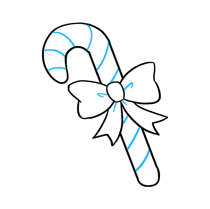 680x678 How To Draw A Candy Cane