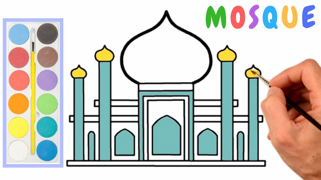1280x720 How To Draw A Mosque Step