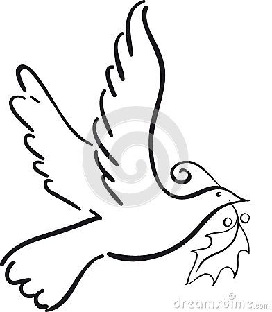 392x450 Simple Dove Royalty Free Stock Photography
