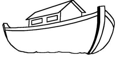 400x198 Noah's Ark Simple Line Drawing Tattoos Noahs Ark Craft, Ark