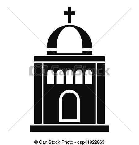 450x470 Church Icon, Simple Style Church Icon Simple Illustration