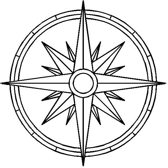Simple Compass Drawing