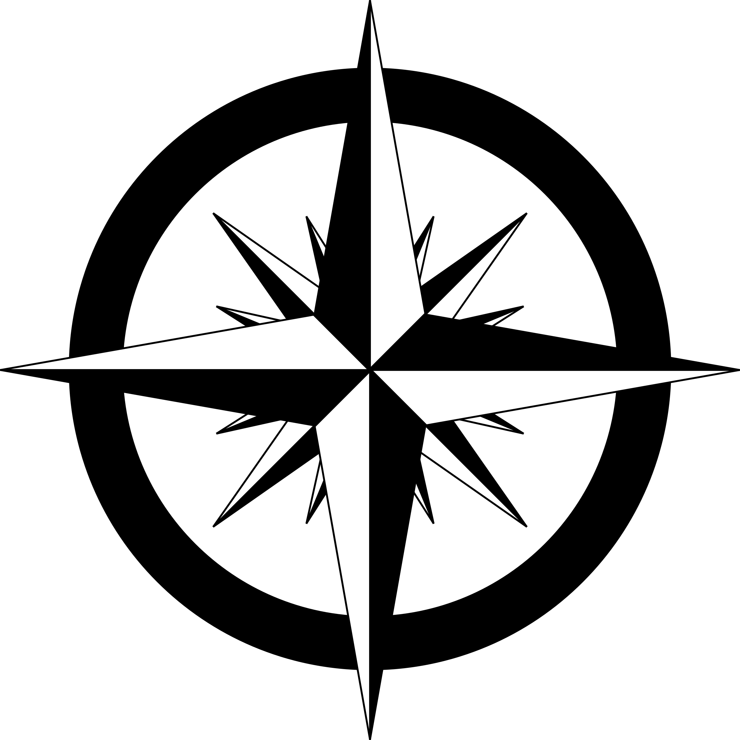 2400x2400 Simple Compass Clipart