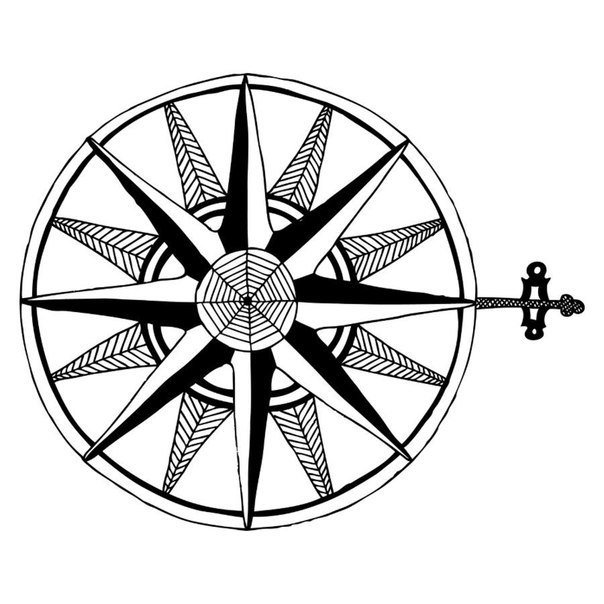 604x604 Simple Compass Drawing