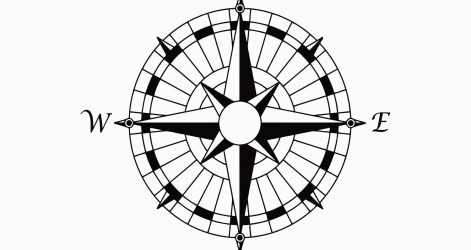 471x250 Simple Compass Rose Drawing Of Autocad Easy Design Ajedrezdeen