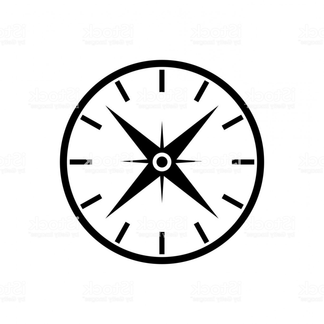 1228x1228 Simple Compass Vector Black And White Studiogrfx
