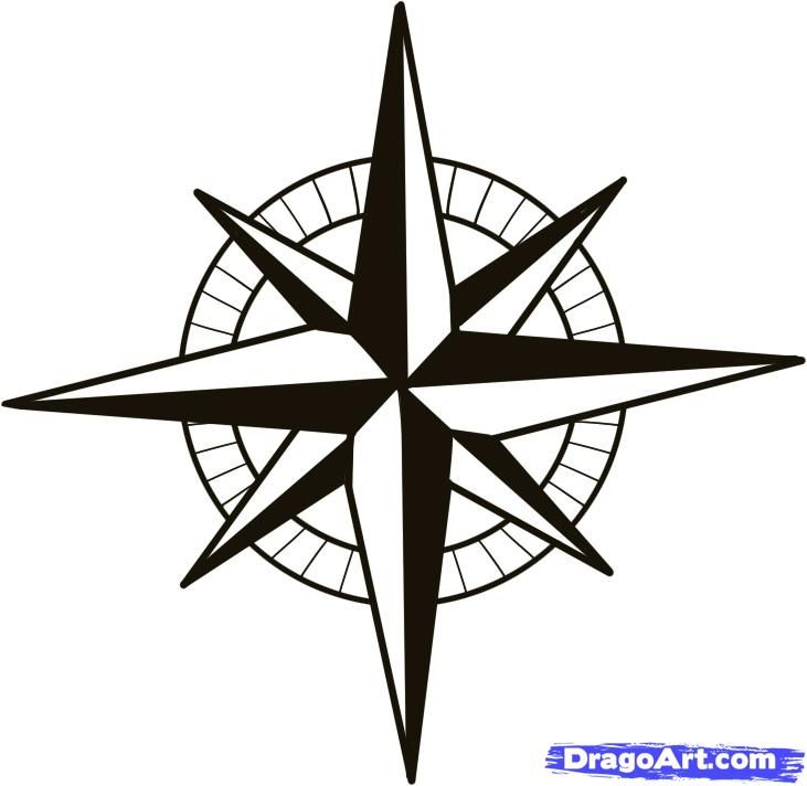 731x712 nautical compass pattern how to draw a compass, compass rose