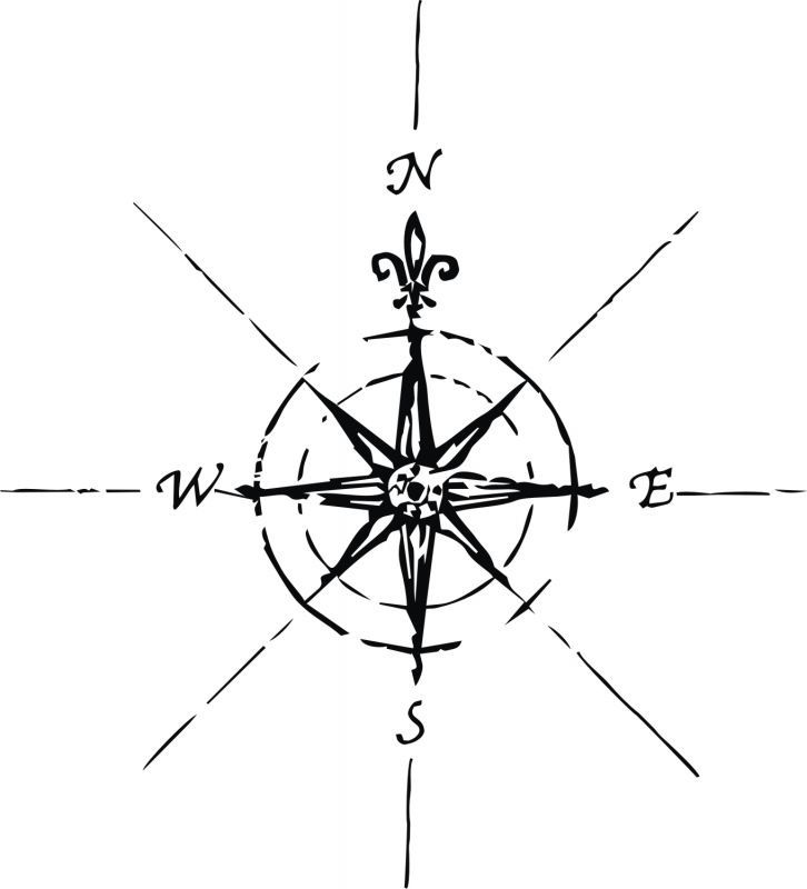 726x800 Simple Compass Tattoos
