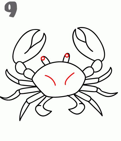 417x485 how to draw a crab kids crab art, crab painting, drawings