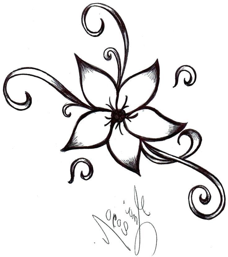 736x830 Easy Simple Drawings Simple Flower Pattern Drawing At Free