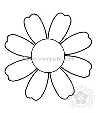 380x450 Simple Daisy Flower Flower Coloring Flowers Templates