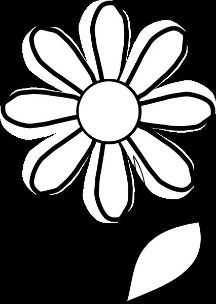 426x598 Simple Daisy Cliparts