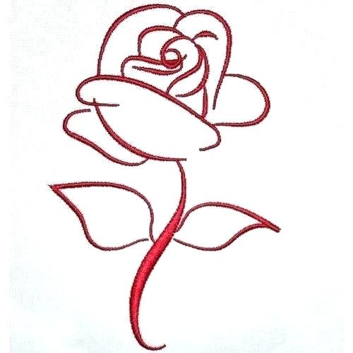 500x500 Simple Rose Outline Simple Flower To Draw Flower Drawing Outline