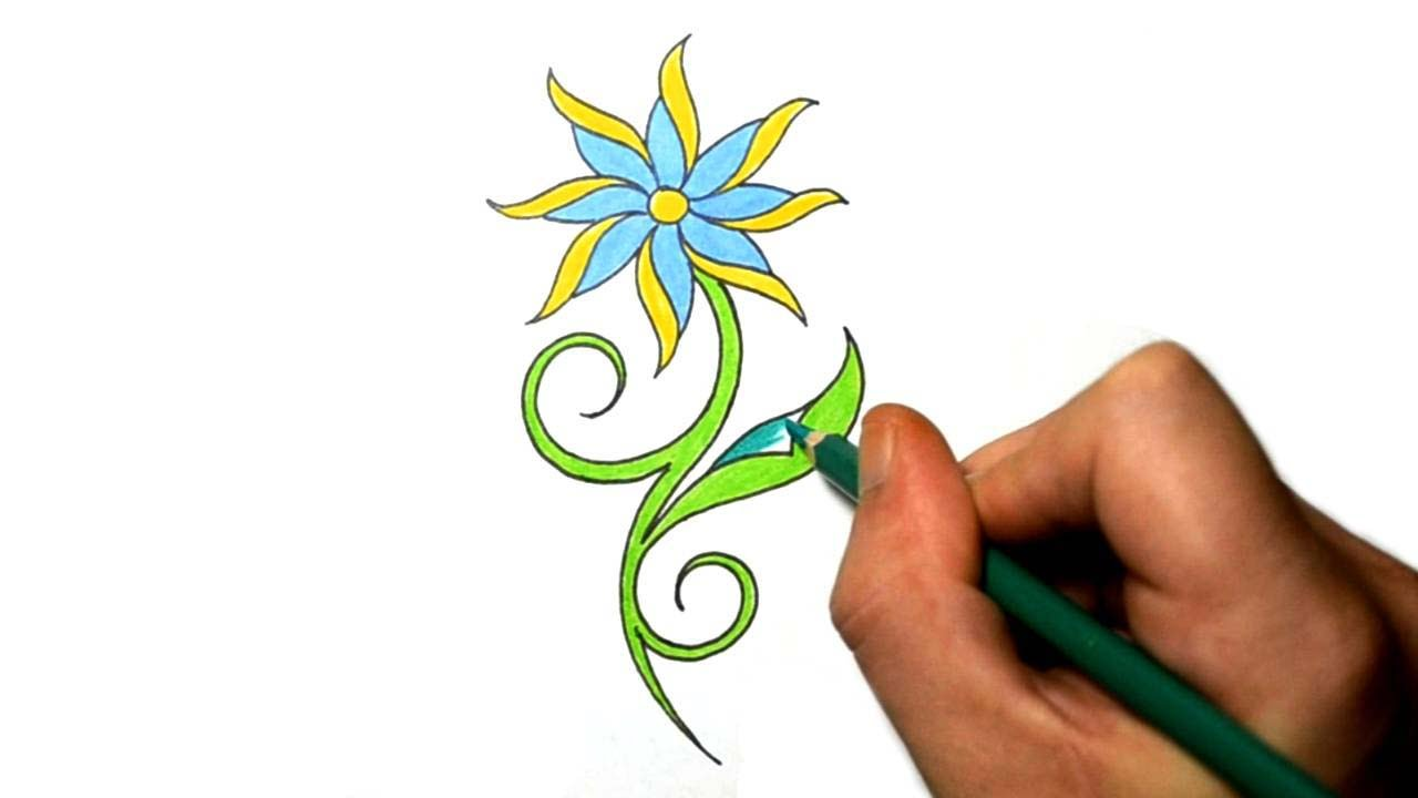 1280x720 Draw Cool Simple Daisy Flower Tattoo Design Youtube