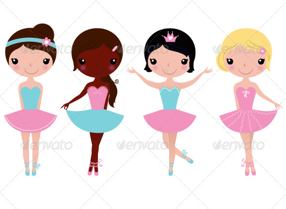 590x431 Collection Of 'ballerina Girl Drawing' Download More Than