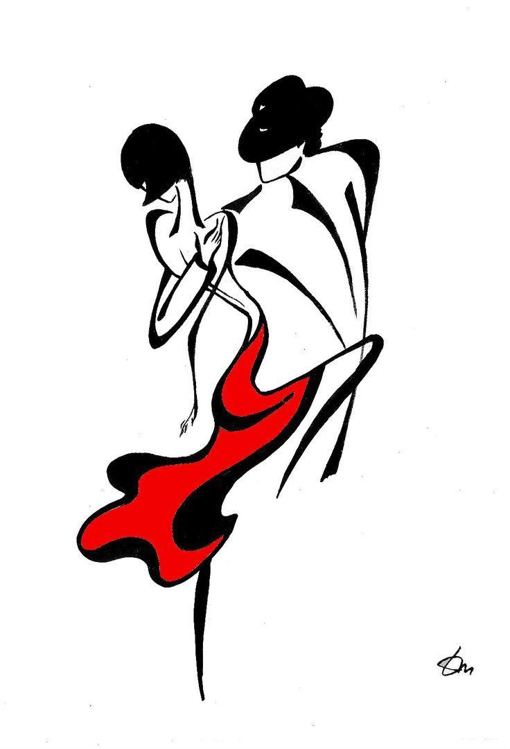 736x1081 Simple Drawings Tango Dance
