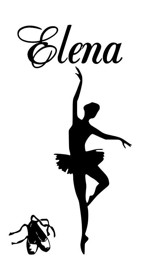 477x879 Ballerina Elena Name Letters Childrens Room Vinyl Wall