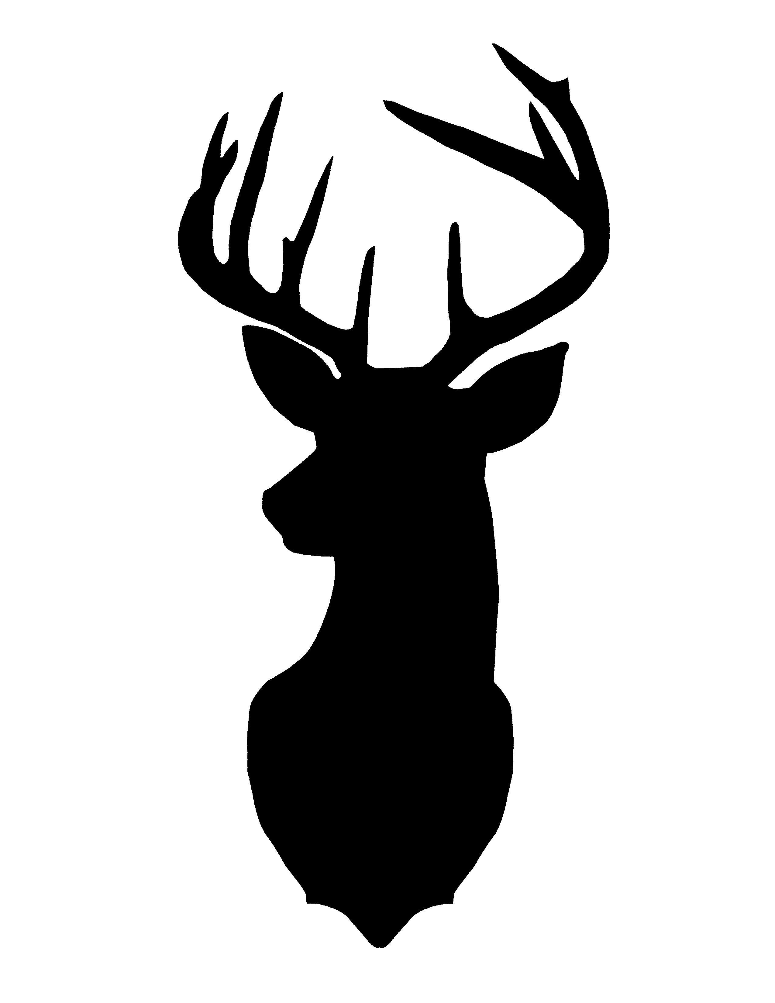 2550x3300 Deer Head Silhouette Simple