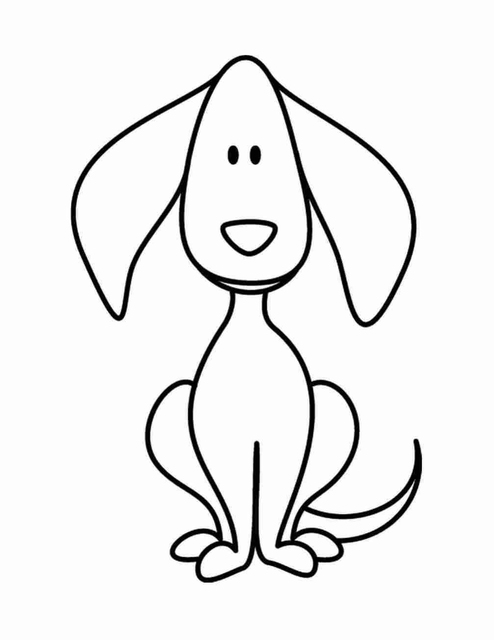 Simple dog drawing for kids free download best simple dog drawing