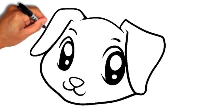 Simple Dog Face Drawing Free Download Best Simple Dog Face Drawing