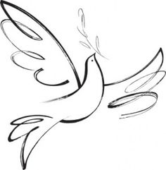 Simple Dove Drawing