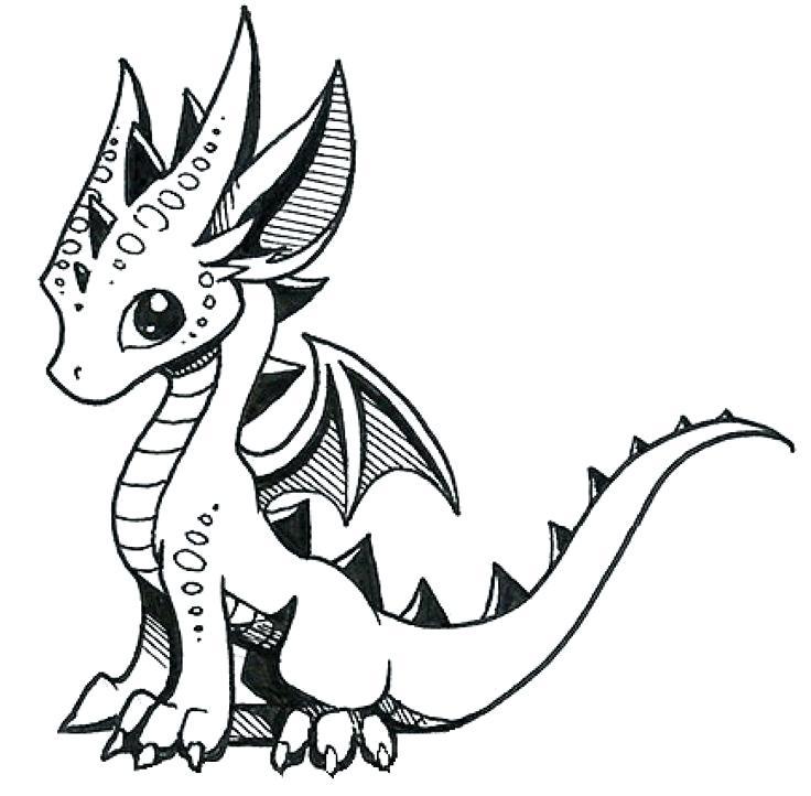 736x722 Dragon Drawing Easy