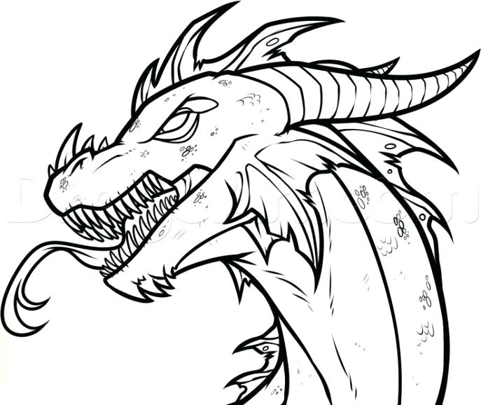 687x578 How To Draw A Dragon Simple
