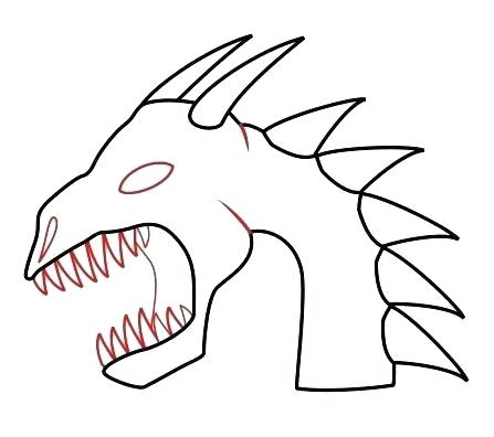 447x396 How To Draw A Simple Chinese Dragon Step