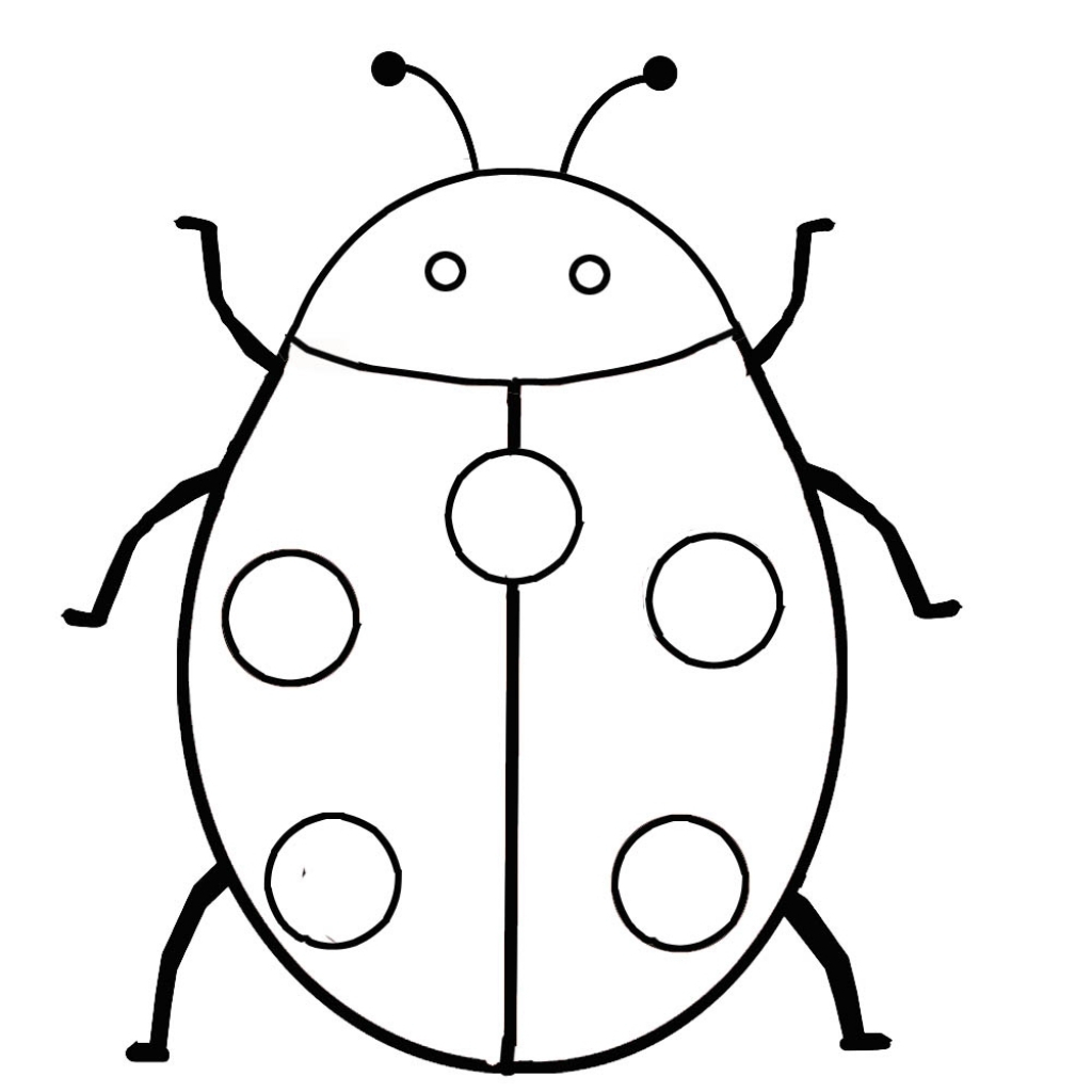 1024x1024 ladybug drawing for kids and simple ladybug drawing easy ladybug