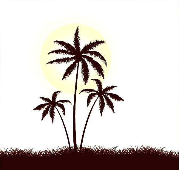 600x572 palm tree sketch palm tree sketch on blue background palm tree