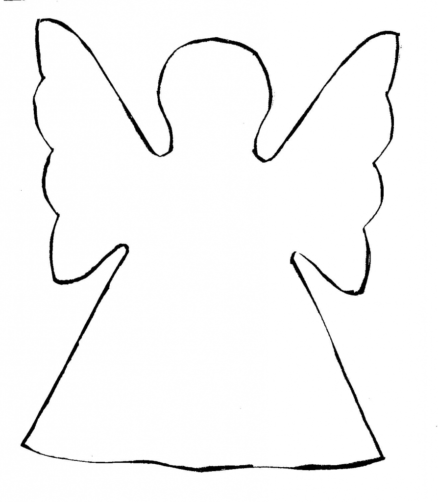 Simple Drawings Of Angels