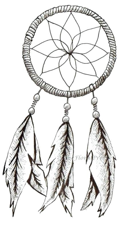 Simple Dream Catcher Drawing Free Download Best Simple