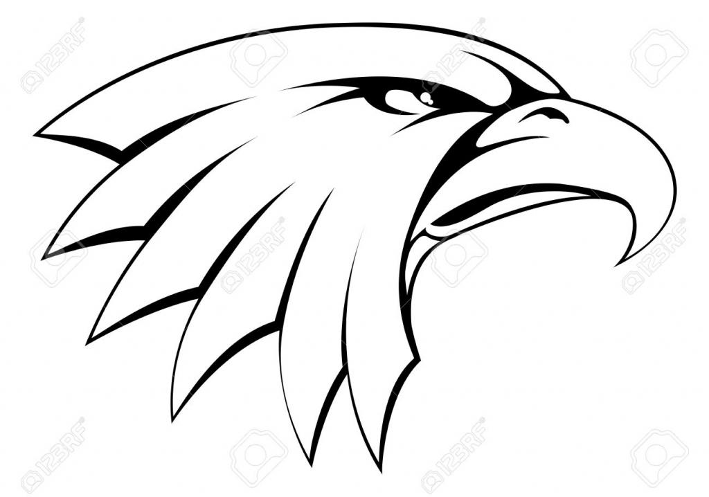1024x718 simple bald eagle drawing bald eagle head cliparts stock vector