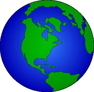 300x296 Globe Clip Art