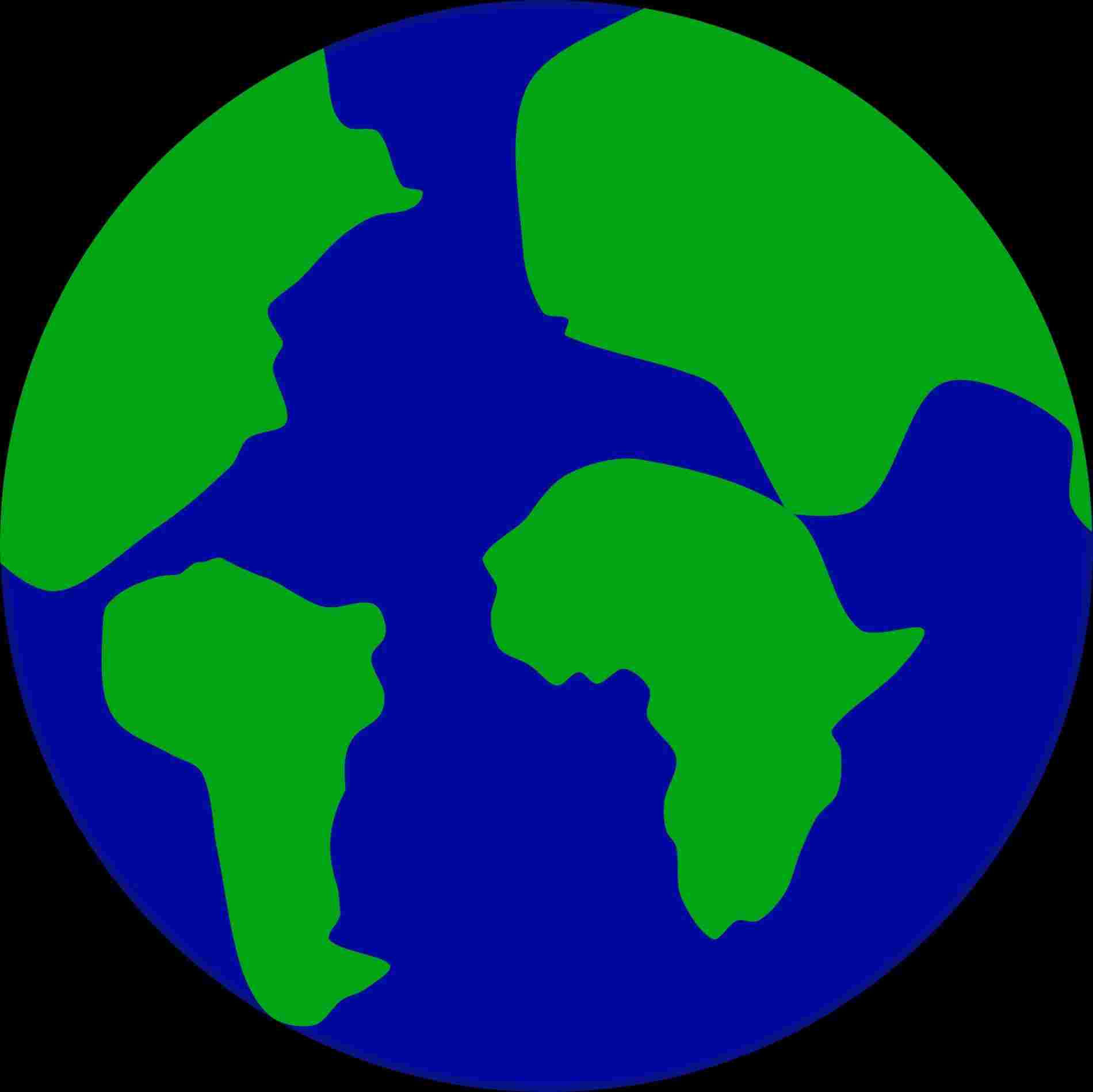 1900x1899 Cartoon Drawing Simple Earth
