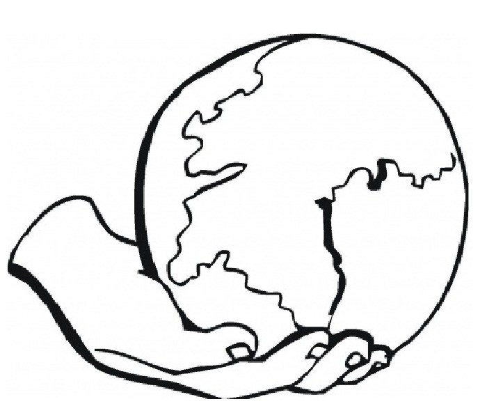 700x593 Simple Earth Drawing