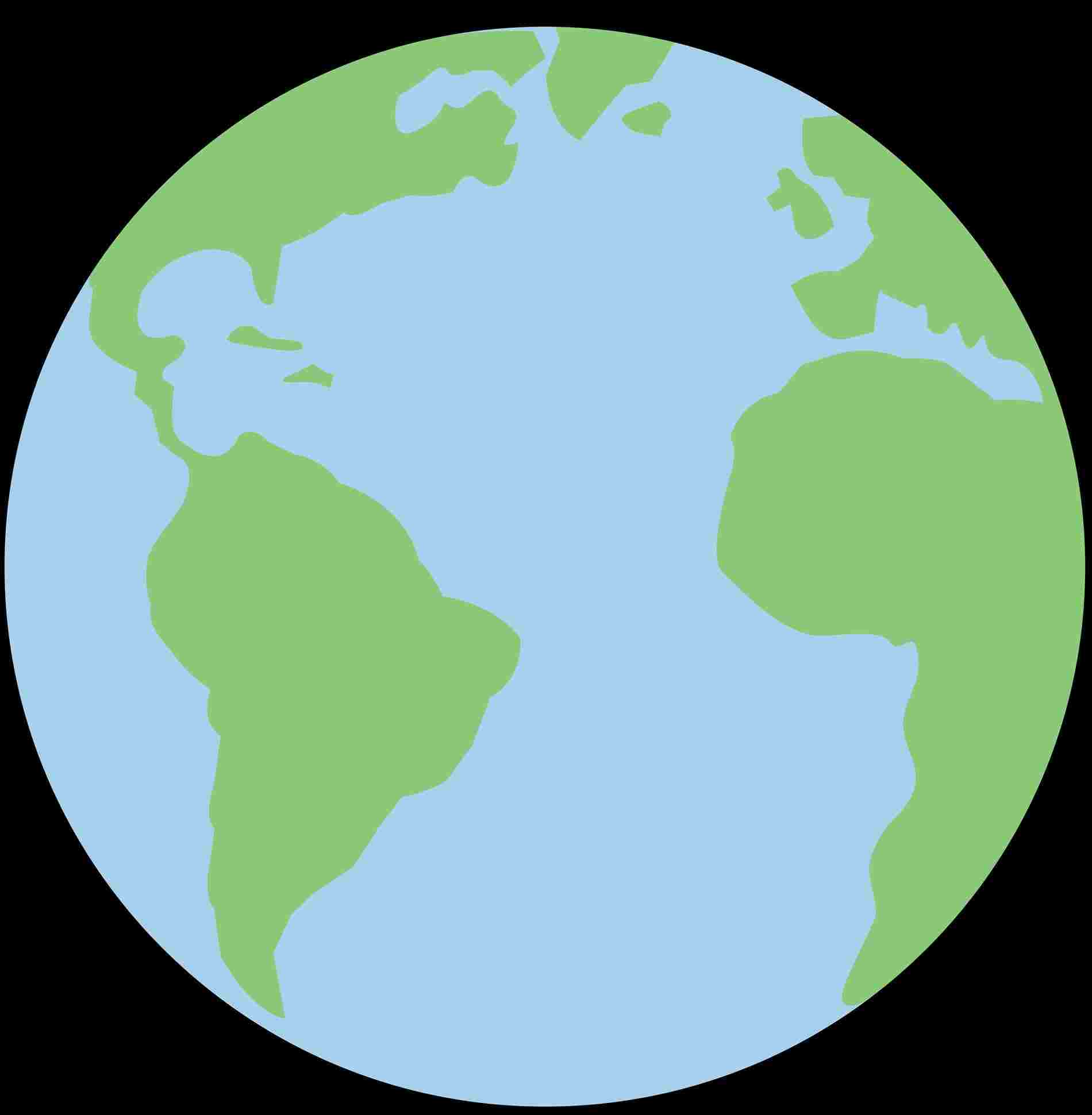 1900x1941 Simple Colorful Earth Drawing Cartoon