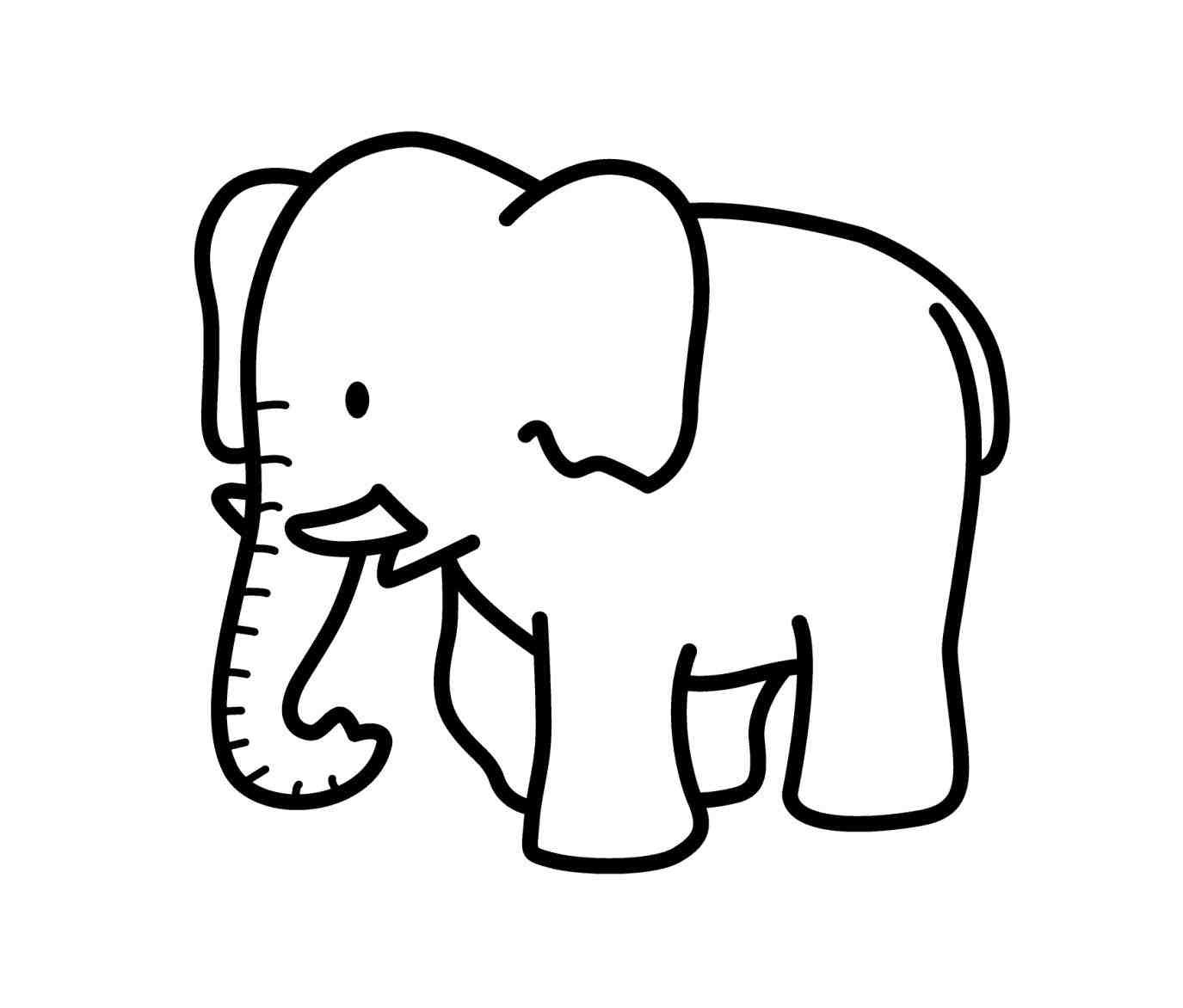 Simple Elephant Drawing | Free download on ClipArtMag