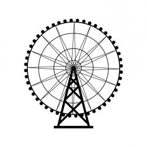 300x300 ferris wheel silhouette circle carnival funfair vector lazttweet