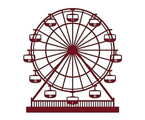 464x384 ferris wheel stamp rubber stamp craft stamp prints wheel